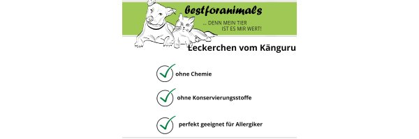 Hundesnacks vom Känguru