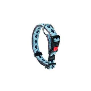 Karlie Art Joy Plus Halsband RHOMBUS - Blau 45-65cm x 25mm