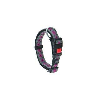 Karlie Art Joy Plus Halsband RHOMBUS - Pink 45-55cm x 25mm