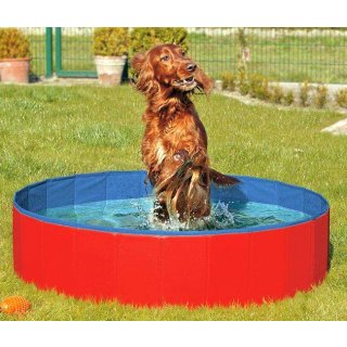 Doggy Pool blau/rot 80CM