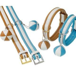 Karlie COTTAGE LINE Halsband - Blau-Weiß 55 cm