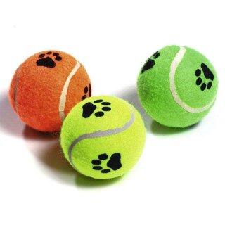 TENNISBALL MIT SQUEAKER3 ST SORT.