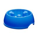 DOGIT Go-Slow Anti-Schling-Napf Blau 1200 ml