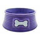 DOGIT Keramiknapf, 200 ml, violett mit Knochendesign