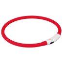 Trixie Flash Leuchtring USB Rot L-XL