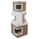 Cat Tower Lilo 123 cm, weiß/braun