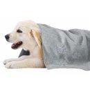 Handtuch grau mit Pfötchen