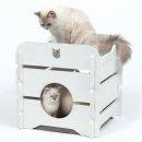 Vesper Katzenhöhle Cottage Weiß