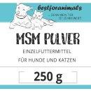bestforanimals MSM Schwefel-Pulver 250g