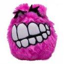 ROGZ FLUFFY GRINZ Hundeball, 7,8 cm pink