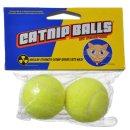 Catnip-Bälle im Tennis-Look - 4 cm