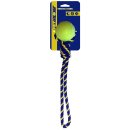 PETSPORT Baumwollseil mit Ball, 38 cm