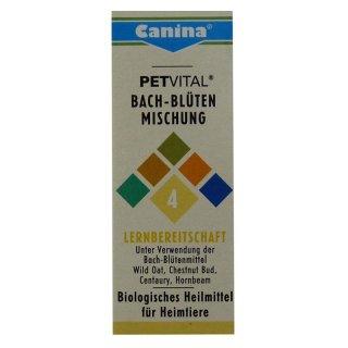Canina Pharma Petvital Bachblüten Nr. 4 - Lernbereitschaft 10g