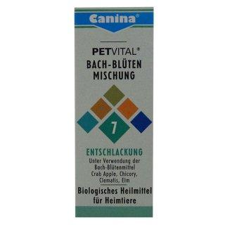Canina Pharma Petvital Bachblüten Nr. 7 - Entschlackung 10g