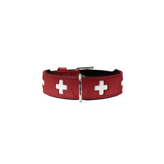 Hunter Halsband Swiss nickel, rot Gr.37