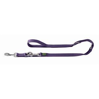 Hunter verstellbare Führleine, Farbe: violett 15/200 cm