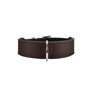 Hunter Halsband Basic 50 nickel, Hals 35-43 cm braun