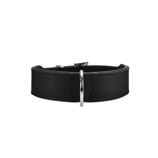 Hunter Halsband Basic 50 nickel, Hals 35-43 cm schwarz