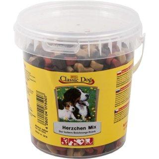 Classic Dog Snack Herzchen Mix Eimer 500g