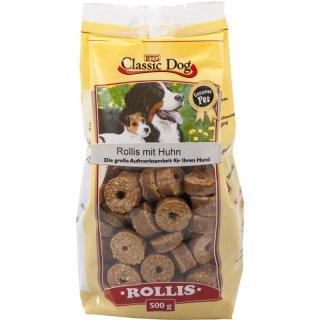 Classic Dog Snack Rollis mit Huhn 500g