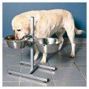 Hundebar, Edelstahl/Metall 2 × 2,8 l/ø 24 cm