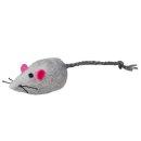 Maus mit Schelle, Plüsch, Katzenminze 5 cm, sortiert