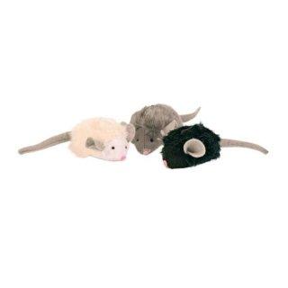 Maus mit Mikrochip, Plüsch, Katzenminze 6 cm, sortiert
