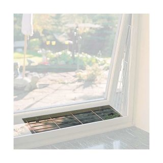 Schutzgitter für Fenster, oben/unten 65 × 16 cm, weiß
