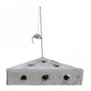 Cats Cheese mit Spielangel & Spielbällen, Plüsch 36 × 8 × 26/26 cm