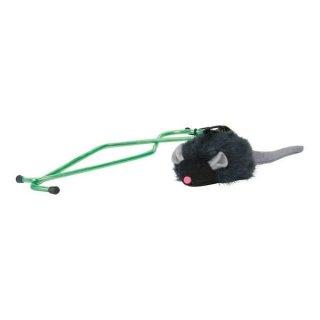 Squeaky-Maus für Türrahmen, Plüsch, Katzenminze 7 cm/135 cm