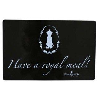 Napfunterlage Hundekönig 44 × 28 cm, Have a royal meal!, schwarz