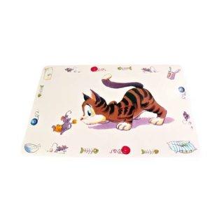 Napfunterlage Comic-Katze 44 × 28 cm