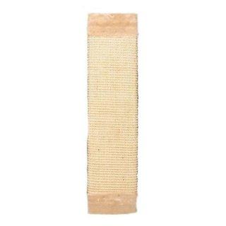 Kratzbrett, Sisalteppich/Plüsch, Katzenminze 15 × 62 cm, natur/beige
