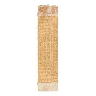 Kratzbrett, Sisalteppich/Plüsch, Katzenminze 15 × 62 cm, beige/braun