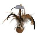 Steh-auf-Federball mit Maus/Microchip, Plüsch 15 cm