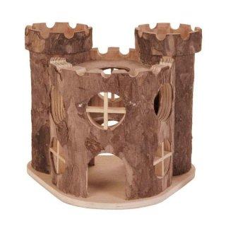 Burg Matti, Hamster, Rindenholz 17 × 15 × 12 cm