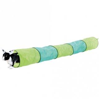 Spieltunnel, Kaninchen ø 18 × 130 cm, anthrazit/grün
