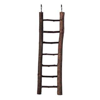 Leiter, Rindenholz 7 Sprossen/30 cm