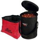 Reise-Set 1,8 l, Foodbag schwarz/Napf rot