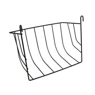 Heuraufe zum Einhängen, Metall 25 × 18 × 12 cm