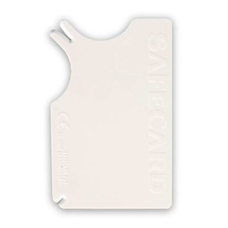 Safecard Zecken-Entferner, Kunststoff 8 × 5 cm, weiß