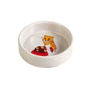 Napf, Comic-Hamster, Keramik 90 ml/ø 8 cm, creme