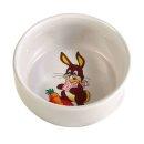 Napf, Comic-Kaninchen, Keramik 250 ml/ø 11 cm, creme