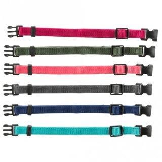 Junior Set Welpenhalsbänder S–M: 17–25 cm/10 mm, 6 St., fuchsia, grafit, indigo, waldgrün, koralle, ozean