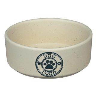 Keramiknapf Dog Food 0,45 l/ø 12 cm, creme