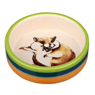 Napf, Comic-Hamster, Keramik 80 ml/ø 8 cm, bunt/creme